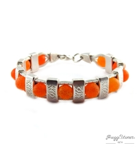 Bracelet SP / Zèbra orange